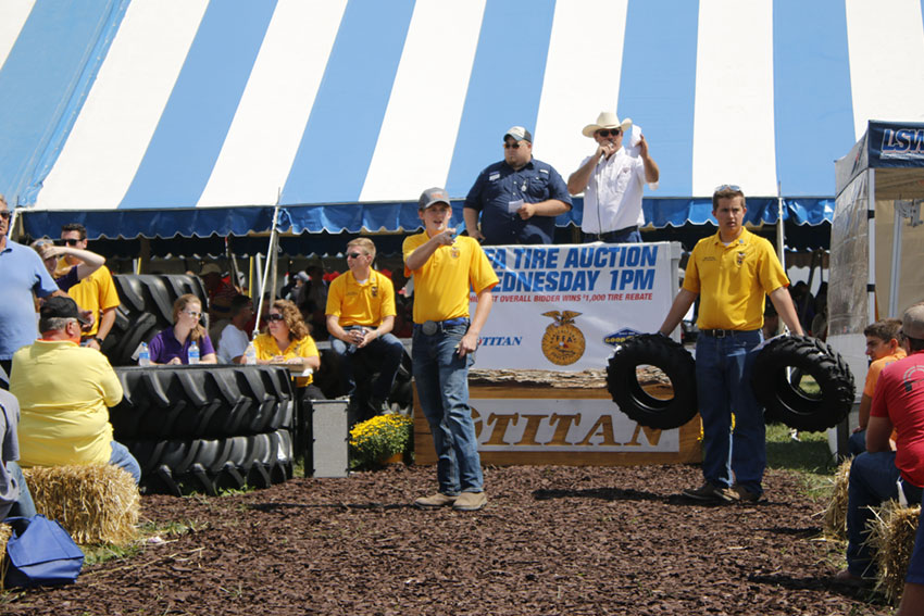 Titan FFA Tire Auction at the 2017 Farm Progress Show in Decatur IL