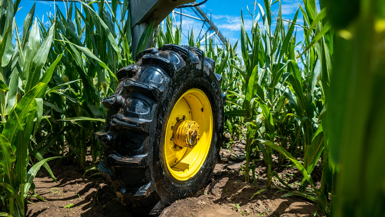 Titan Hi-Dration Lug Irrigation Tire on T&L Irrigation Equipment